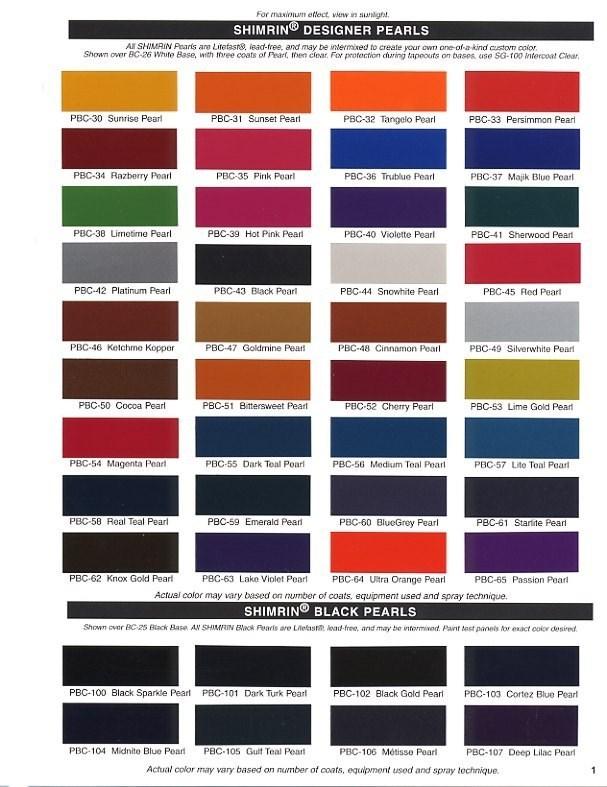 Dupont Imron 6000 Color Chart Dupont Paint Colors Best