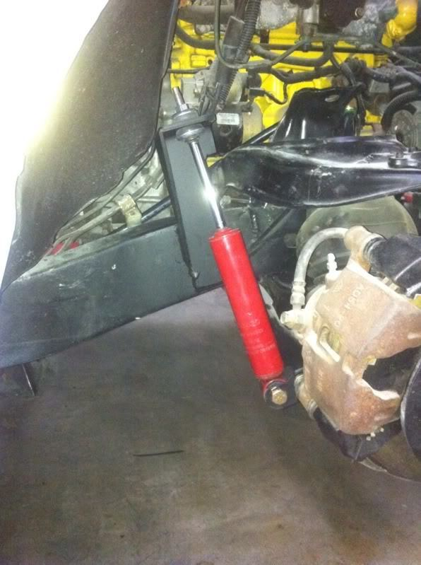 who has air bags AND shocks on front with stock lower arms