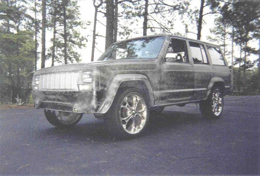 two tones 1989 Jeep Cherokee photo