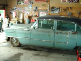 Forever Draggins 1955 Cadillac Sedan De Ville photo thumbnail